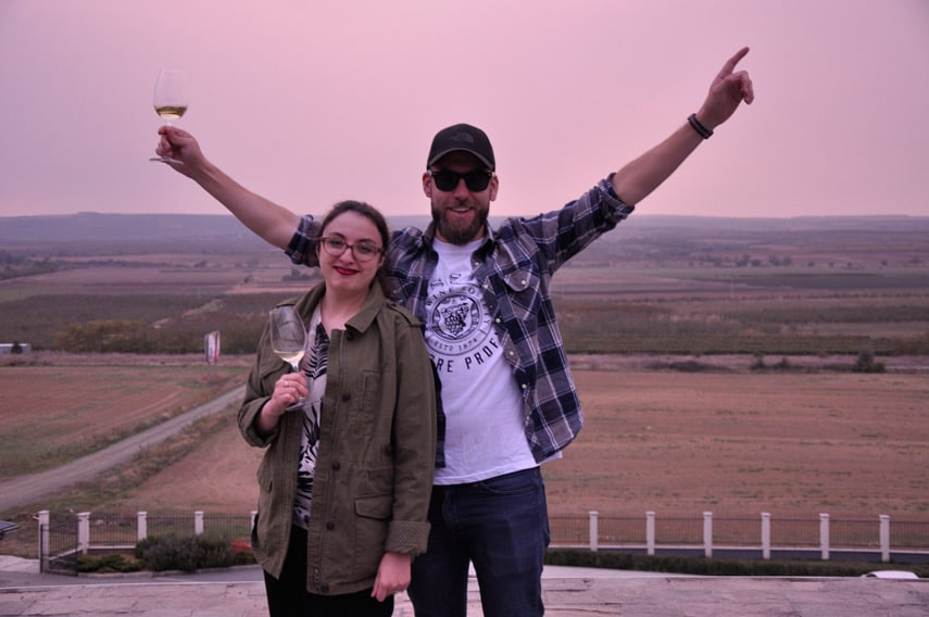 Freddy Bulmer and Laura Vickers (The Wine Society),  visiting the wine regions of Bulgaria