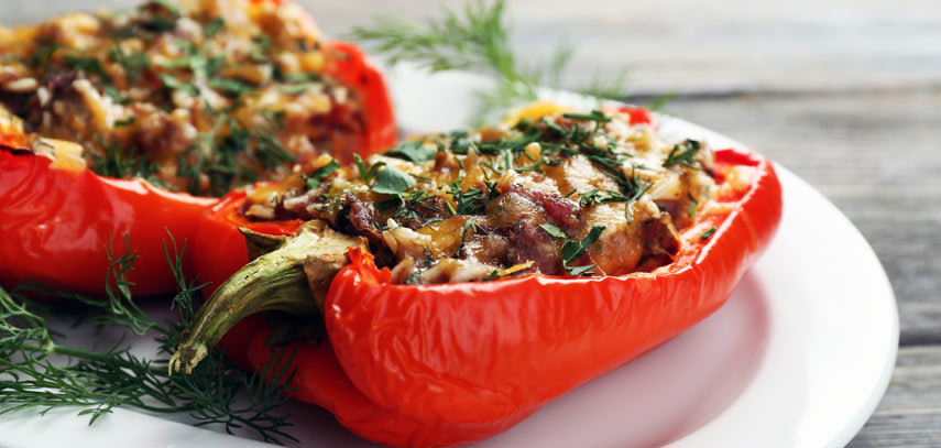 Pulneni chushki (stuffed peppers) - stuffed with mince and rice, these peppers are another traditional dish, and they made a really hearty lunch at a Bulgarian diner in-between tastings.
