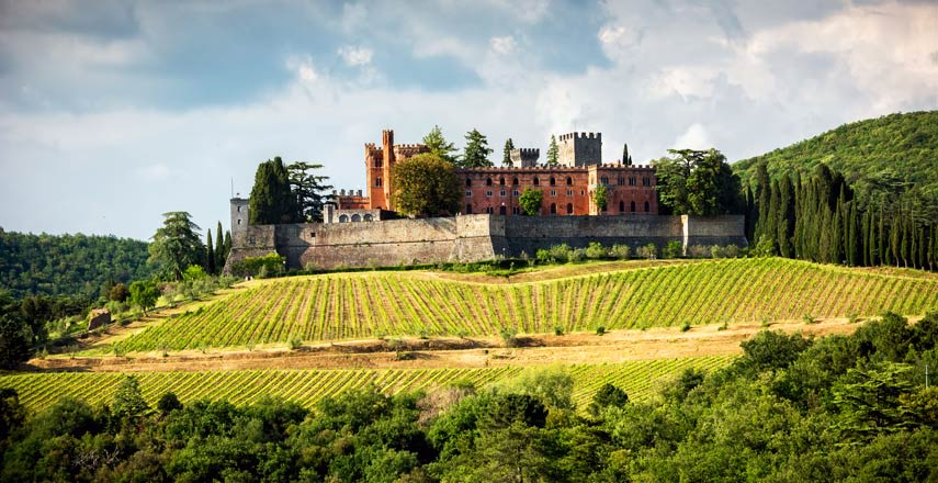 The imposing Castello di Brolio where the Ricasoli Barons have been making wine since 1141 is often referred to as 'the birthplace of Chianti'