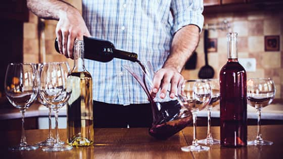 Here's how to serve wine