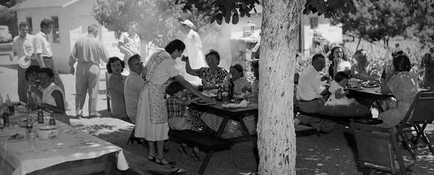 Pedroncelli family bbq in the late 1940s