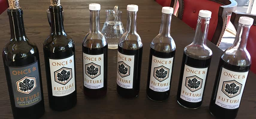 Samples of new vintages from barrel