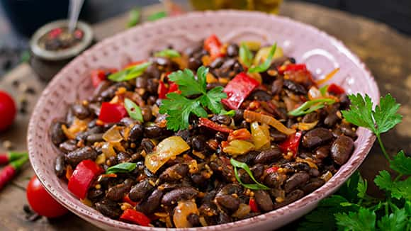 Black Bean Stew with Salsa