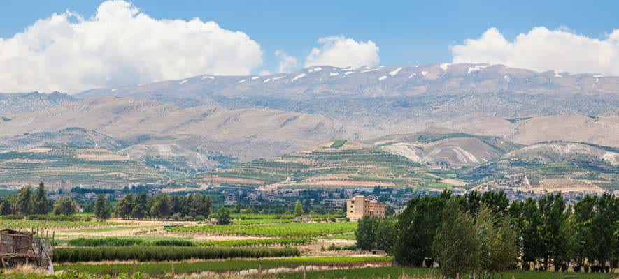 The Bekaa Valley, Lebanon, where every winter there is less and less snow