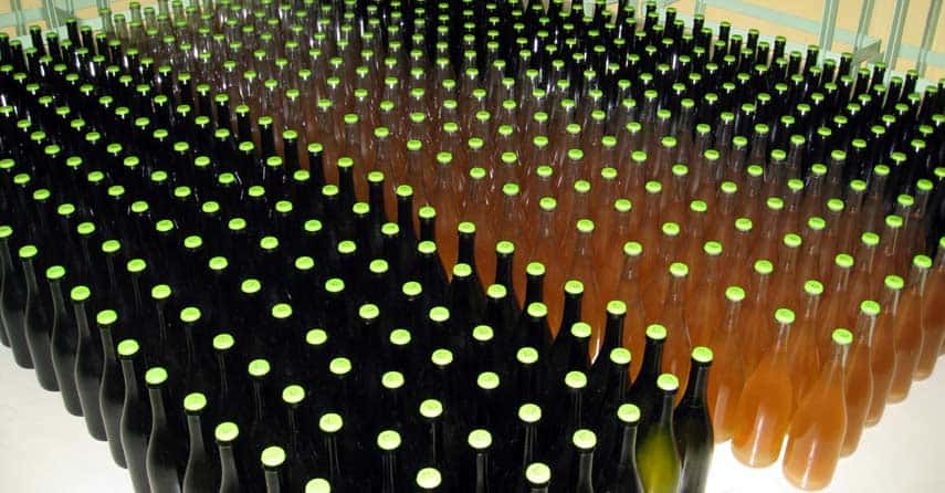Trapping Co2 in the bottle is a vital part of the process of making Champagne