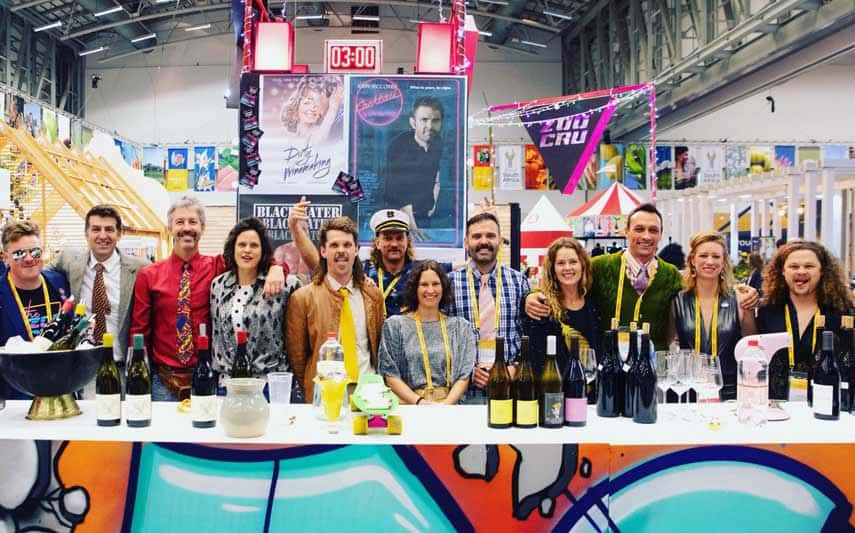 '…they don't take themselves too seriously, but are extremely serious about wine.' A group of South Africa's new-wave luminaries (including mullet-adorned Chris Alheit, far left) at Cape Wine 2018.