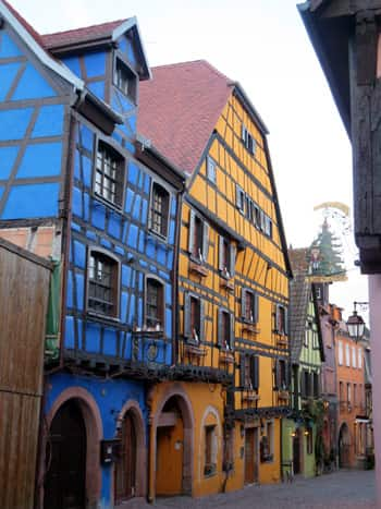 Riquewihr's pretty coloured buildings