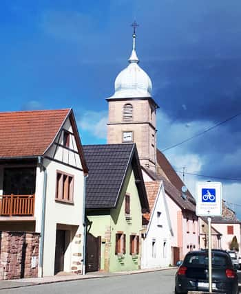 Pretty little Bergholtz, just 3km south of Guebwiller