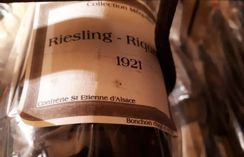 Amazing collection of old bottles in the cellars of the confrerie