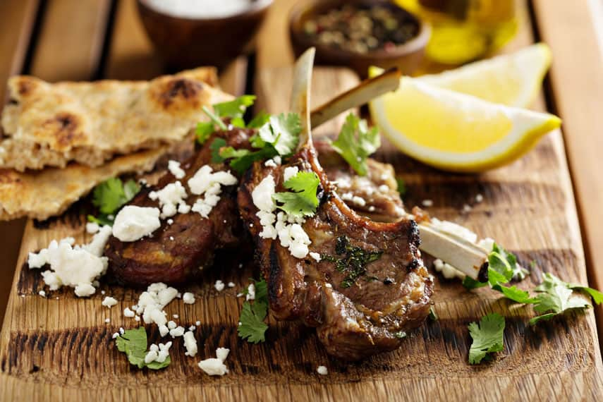 Lamb cutlets are the perfect companion for a spicy Australian shiraz