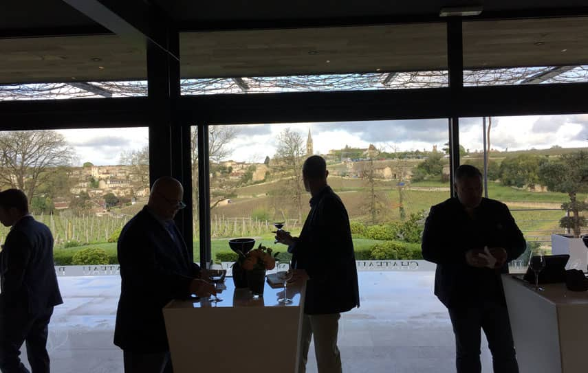 Saint-Emilion from the Pavie Macquin wine tasting room