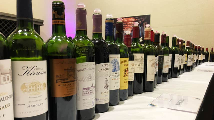 The first taste is the sweetest! A line-up of Margaux at merchants Ulysse Cazabonne, Bordeaux