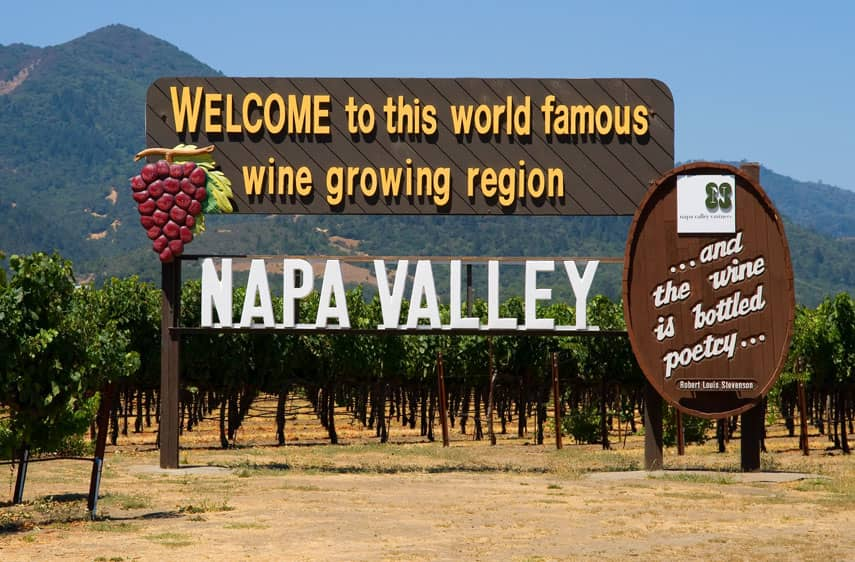 Napa Valley: famous wine-growing region in California