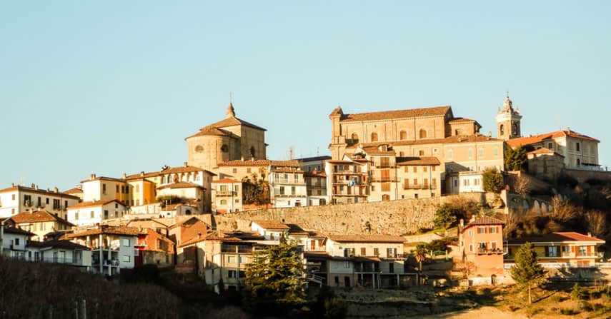 The hill-top town of La Morra