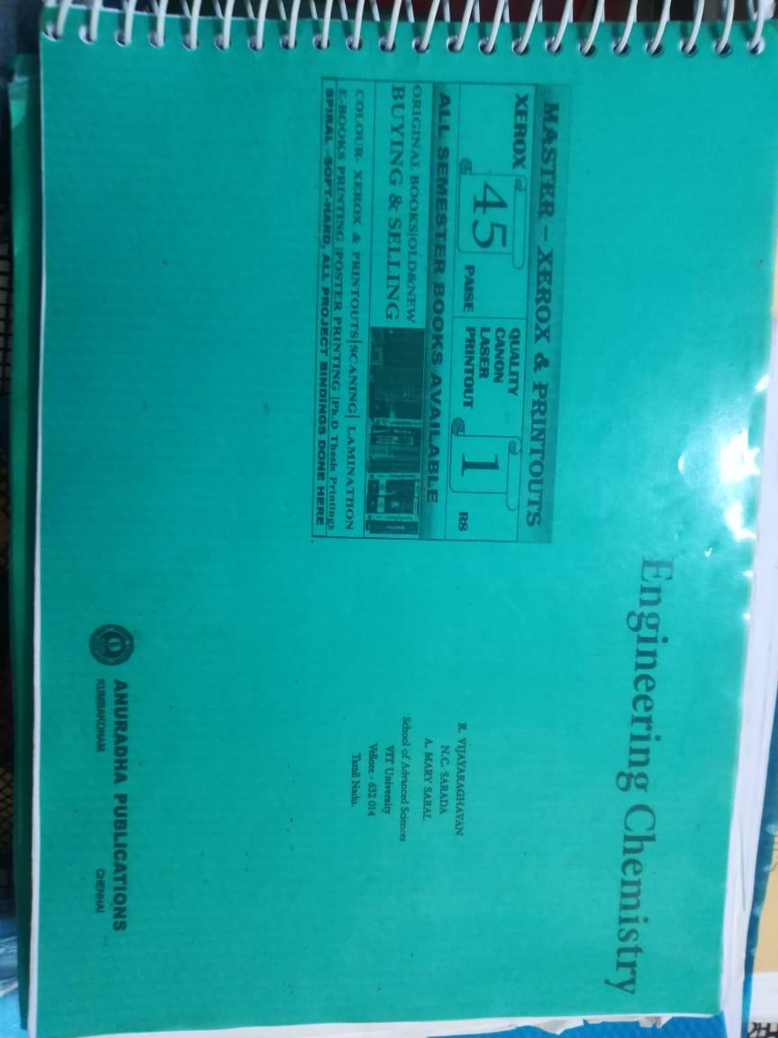 Engineering Chemistry Anuradha Book