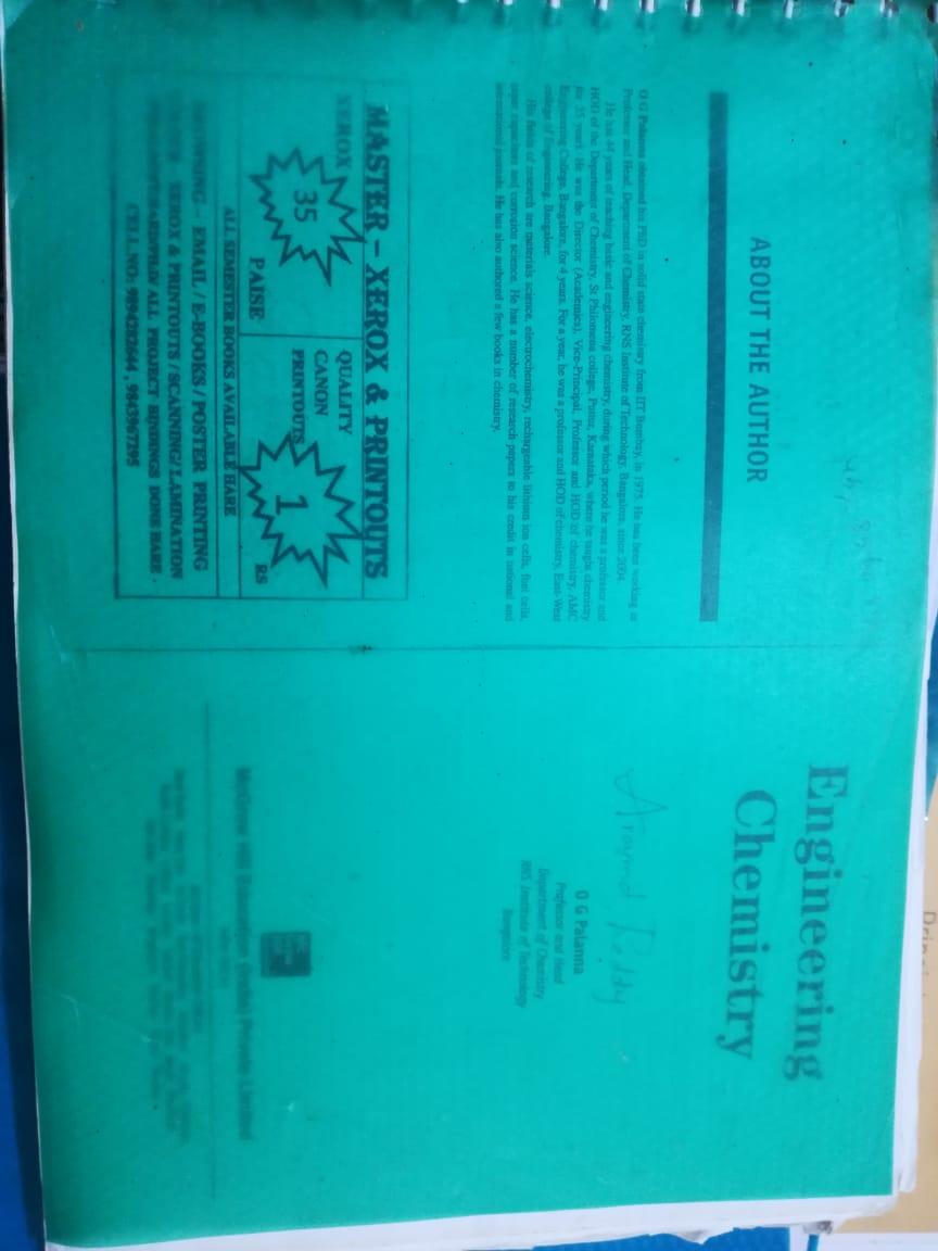 Engineering Chemistry O.G PALAMA BOOK