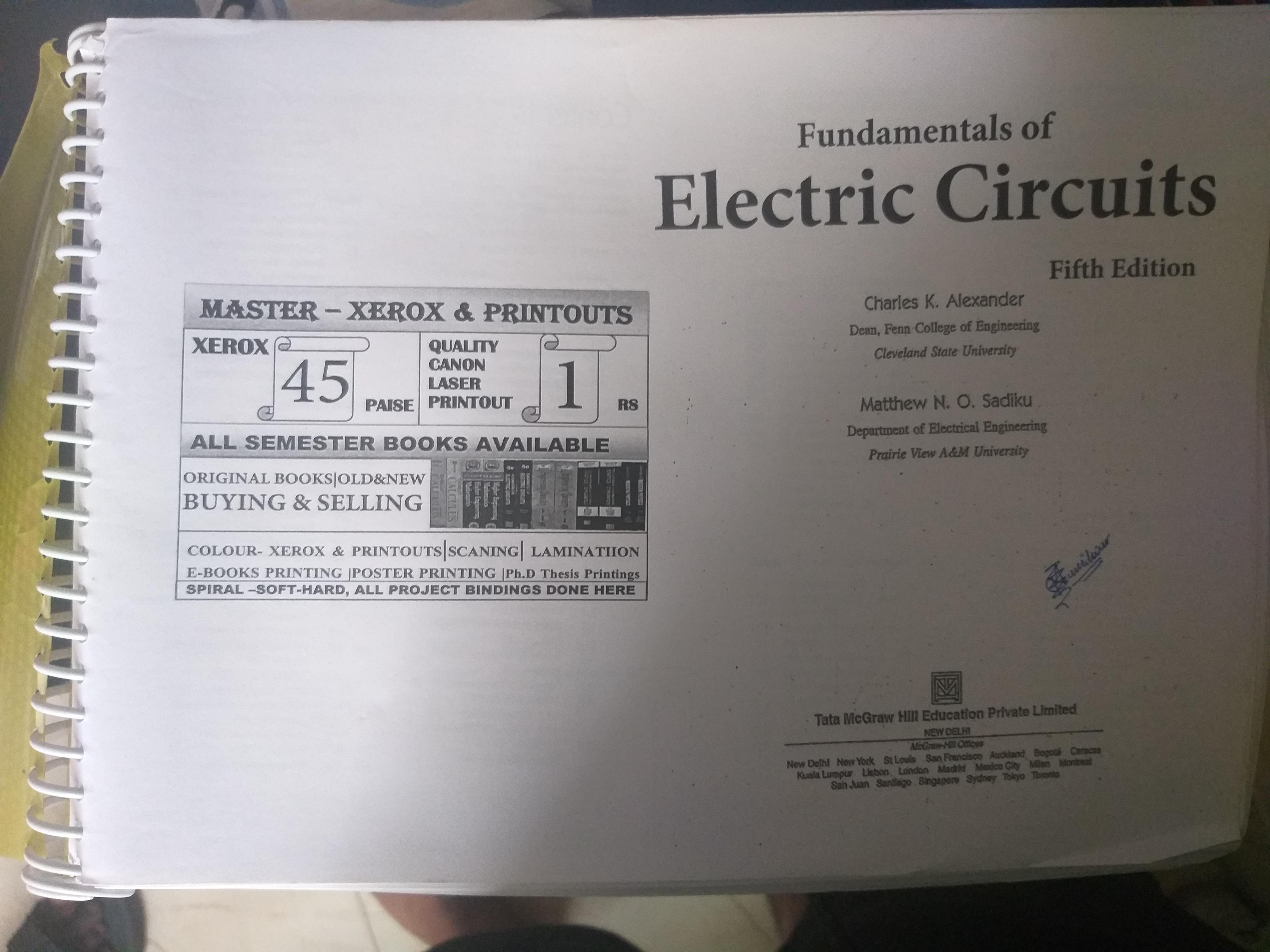 Fundamental of electronic circuits.