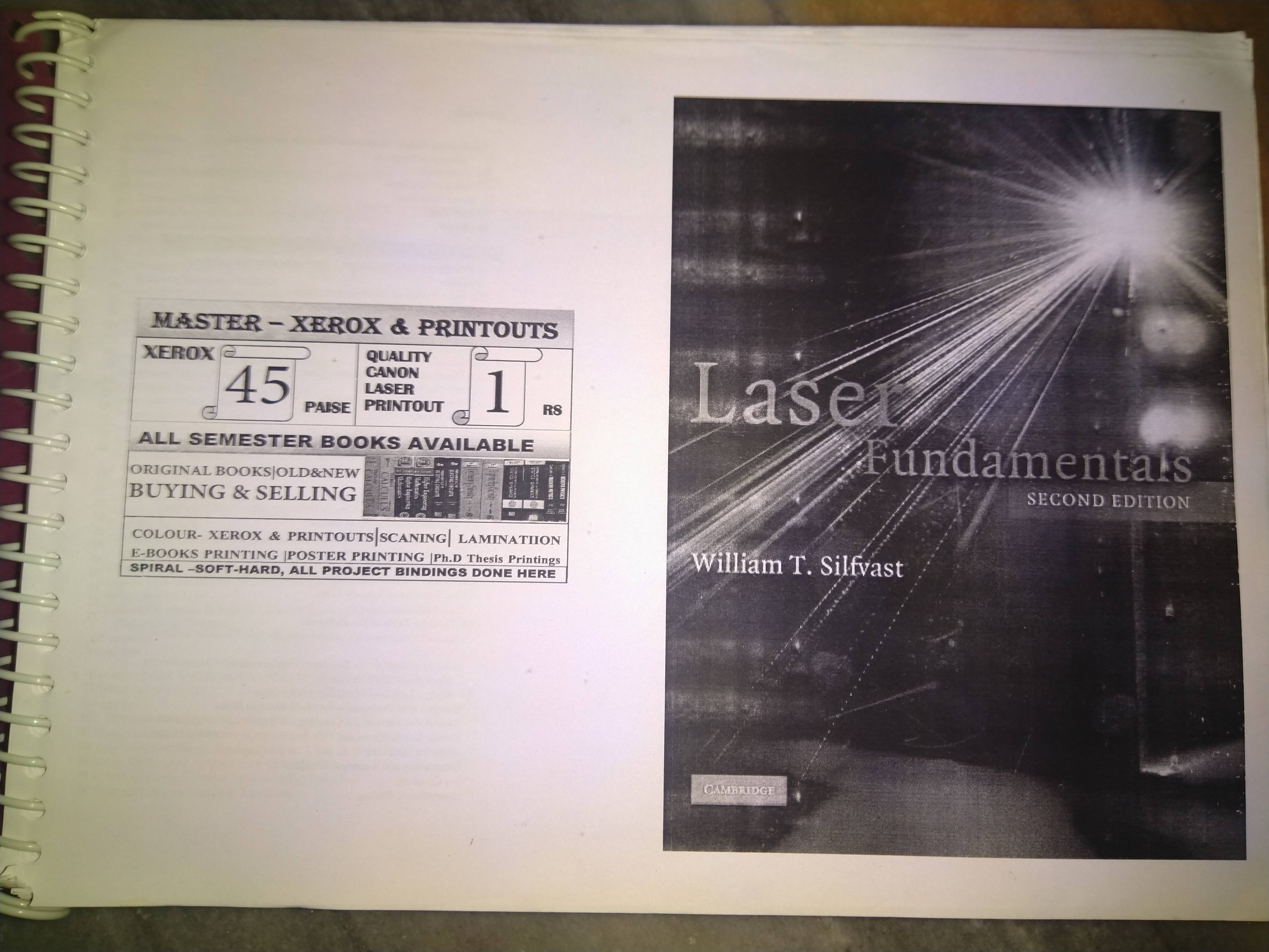 Laser fundamentals 2nd Edition, William T.Silfvast (Cambridge)