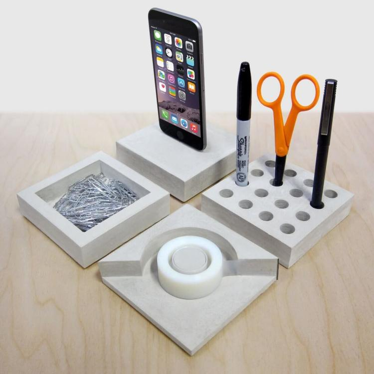 SLABS Concrete Modular Desk Se