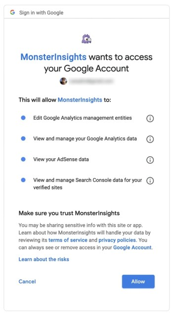 MonsterInsights - Request Access