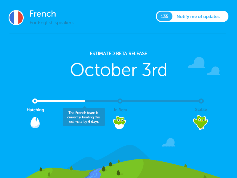 Duolingo Coming Soon Page