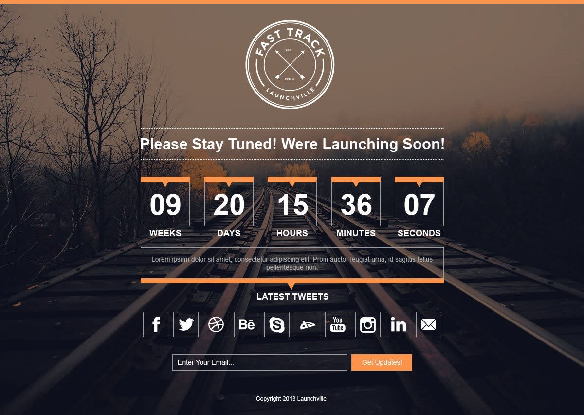 Coming Soon Page - Fast Track