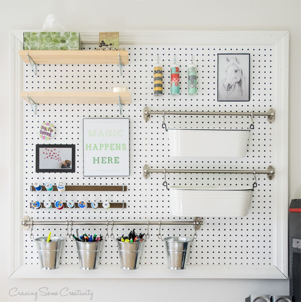 Pegboard Organizer - Craving Some Creativity