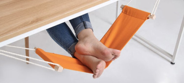 Geekfactory Mini Office Foot Rest Stand Desk Feet Hammock