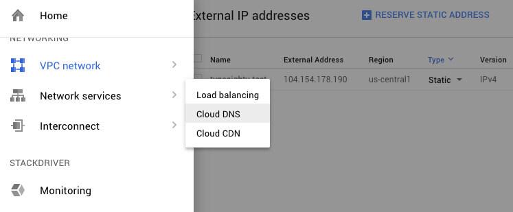 Google Cloud DNS - TypeEighty