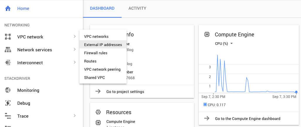 Google Cloud External IP addresses - TypeEighty