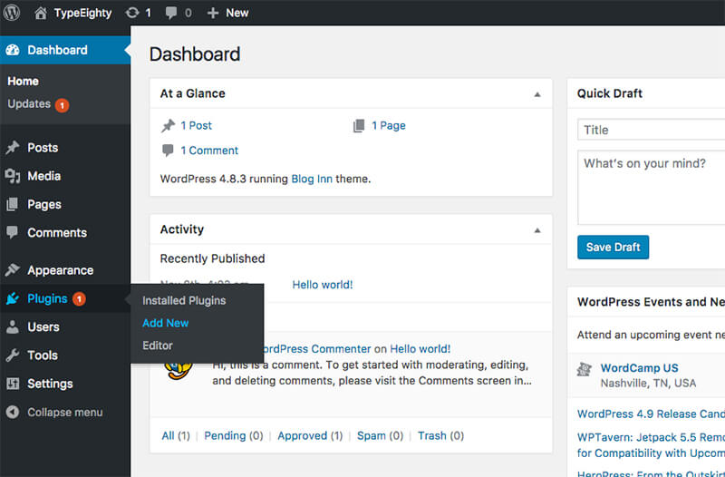 WordPress Plugin Add New - TypeEighty
