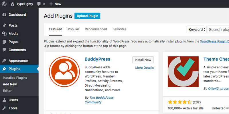 WordPress Upload Plugin - TypeEighty