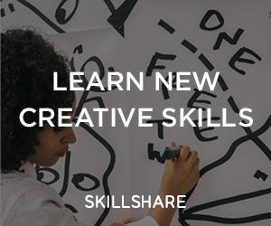 Learn new creative skills with skillshare