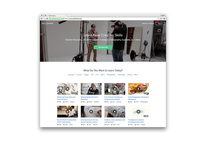 Skillshare - Online Learning Platform for Creative Professionals - TypeEighty