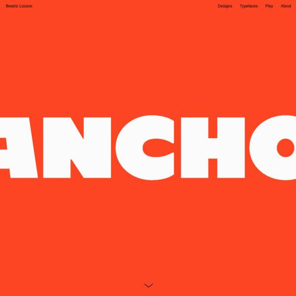 screenshot of Ancho