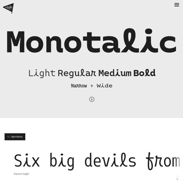 screenshot of Monotalic