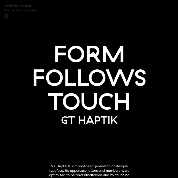 screenshot of GT Haptik Font