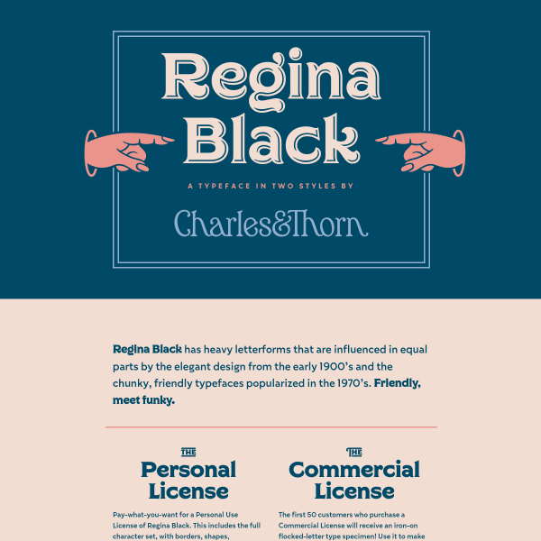 screenshot of Regina Black