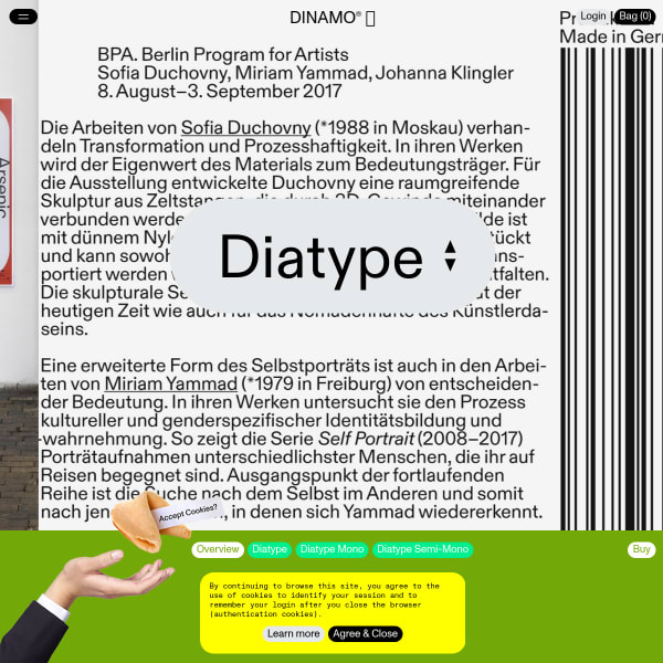 screenshot of Diatype