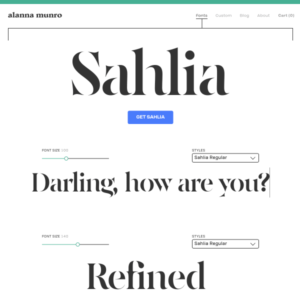 screenshot of Sahlia