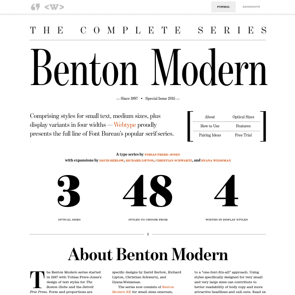 screenshot of Benton Modern