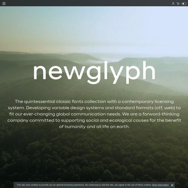 screenshot of Newglyph