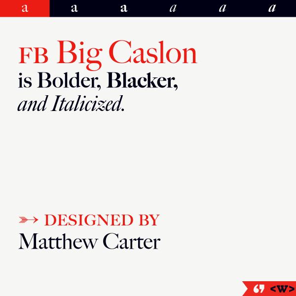 screenshot of FB Big Caslon