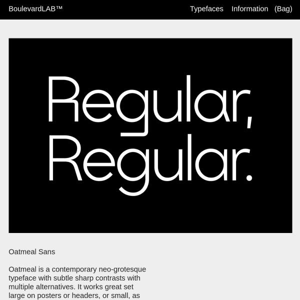 screenshot of Oatmeal Sans