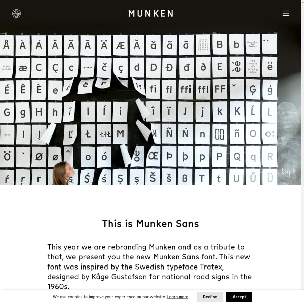 screenshot of Munken Sans