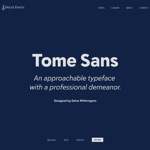 screenshot of Tome Sans