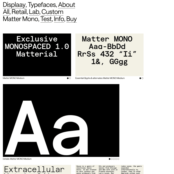 screenshot of Matter Mono