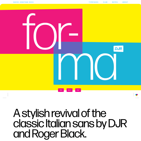 screenshot of Forma DJR Font