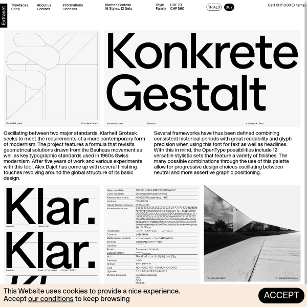screenshot of Klarheit Grotesk