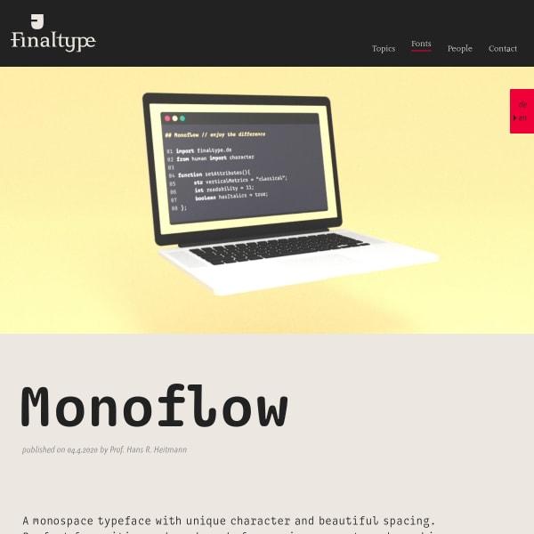 screenshot of Monoflow